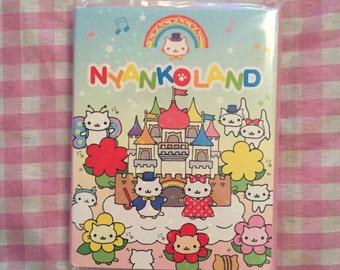 San-x Nyan Nyanko nyankoland memo pad set RARE