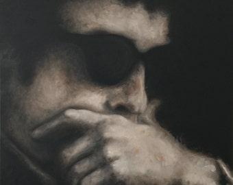 JOKERMAN, oil painting, figurative impressionist art, portrait,