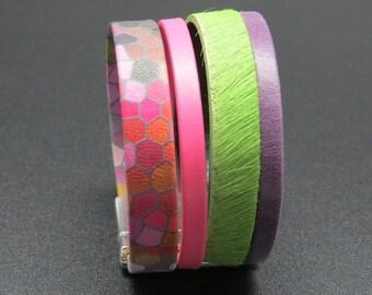Grany leather cuff bracelet