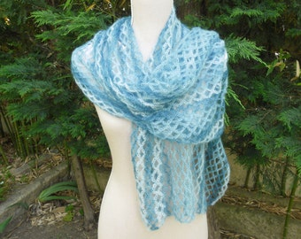 SCARF mohair and silk crochet