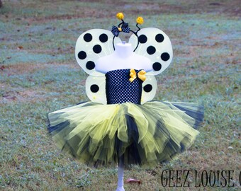 Bumble Bee Halloween Tutu costume   Outfit Girl Skirt Boutique Bows Clothing Baby Toddler Yellow Black