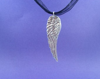 ANGEL WING (large) Pendant, fine silver