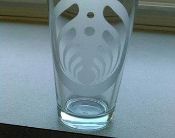 Set of 6 Etched Bassnectar Pint Glasses