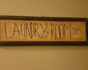 FREE SHIPPING Laundry room sign