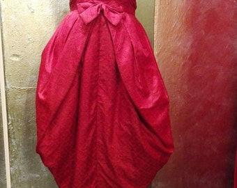 Hand tailored red vintage dress