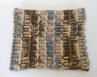 Crochet Basketweave Dishcloth