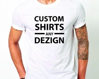 Customized shirt with any design and lettering.