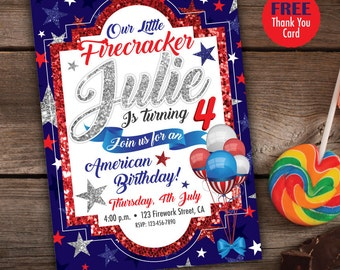 4th of July Invitation, Printables 4th of July, 4th of July Party, 4th of July Birthday, Fourth of July invitations, Fourth of July Invite