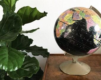 Vintage World Globe – Black
