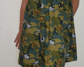 Camo Safari Sun Dress Size 4