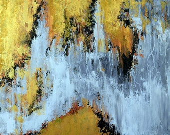 Gold Is For Lovers 24x48 ORIGINAL acrylic painting on gallery wrapped canvas
