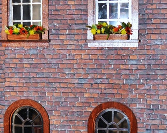 Dollhouse Miniature 1:12 Flowers, Window Box ,Dollhouse Garden,Miniature Garden.