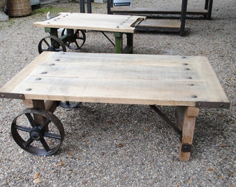 Industrial Coffee Table Reclaimed Wood