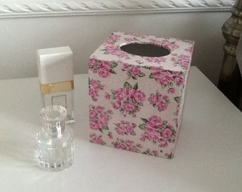 Homemade wooden tissue box cover