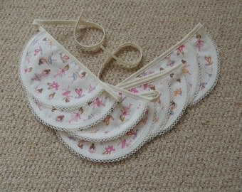 Handmade Half Circle Ballerina Fabric Bunting, Garland, Decoration, Banner for Birthday Party
