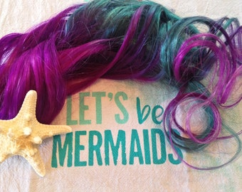 Underlights, Peekaboo Highlights, Mermaid Hair, Ombre Hair Extensions, Purple Hair, Teal Hair, Clip In Hair Extensions, Pastel Hair