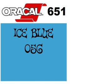 Oracal 651 Vinyl Ice Blue (056) Adhesive Vinyl - Craft Vinyl - Outdoor Vinyl - Vinyl Sheets - Oracle 651