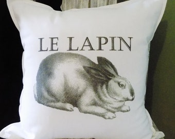 Rabbit pillow, Rabbit cushion, bunny pillow, bunny cushion,  throwpillow, bunny rabbit pillow, bunny throw pillow, rabbit throw pillow