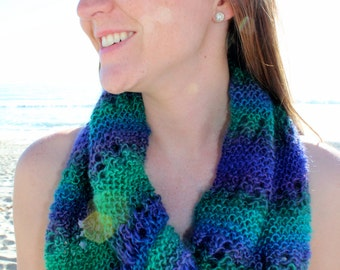 Bubble Lace Infinity Scarf