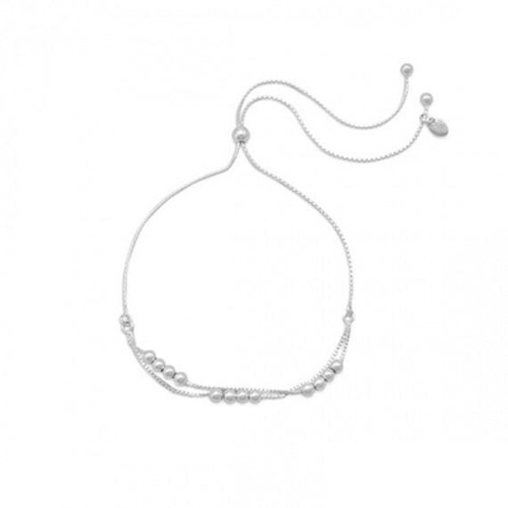 Double Strand Beaded Slide Bracelet