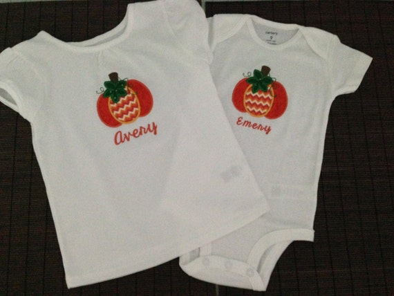 Pumpkin Applique Shirt – Pumpkin Applique – Applique Shirt – Girls Applique Shirt – Toddler Applique Shirt – Girls Shirt – Toddler Shirt