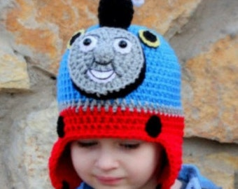 Thomas the train hat, scarf & mittens set
