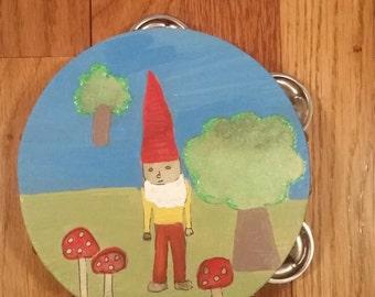 garden knome tambourine