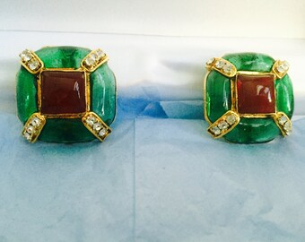 Vintage Chanel Gripoix Earrings