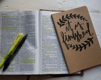 It is finished handwritten journal