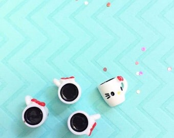 Hello Kitty Coffee Cup Cabochon