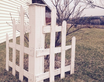 Corner Picket Fence, Pallet Picket Fence, Pallet Corner Fence