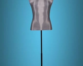 Mannequin bust Metal Grey
