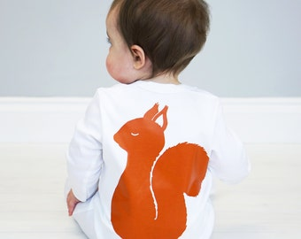Squirrel Baby Sleepsuit - New Baby Gift