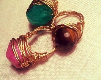 Gemstone Ring- Gold