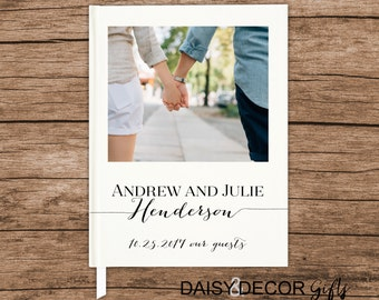 Wedding Guest Book Wedding guestbook Personalized Photo Guest Book Wedding Notebook Custom Guestbook Wedding Memory Book Wedding