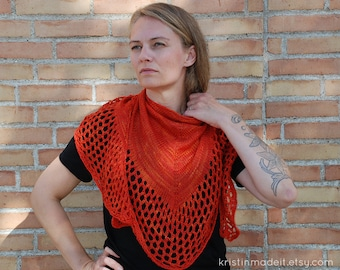 Delicious hand knitted super soft shawl - ready to ship