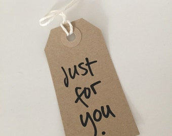 Just for you vintage gift tags (10 pieces)