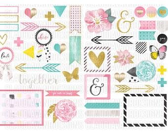 Amy Clip Art Pack 1 - 51 pieces (Digital)