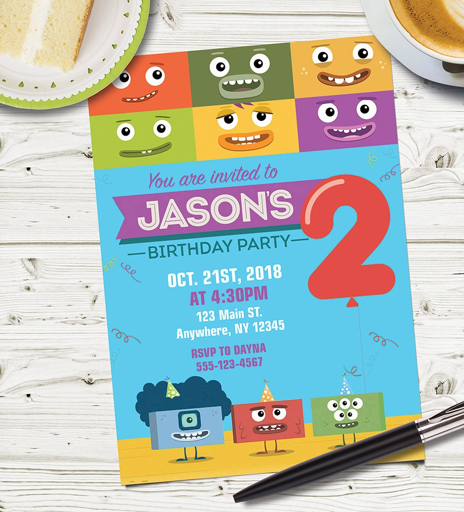 CUSTOM Designed Big Block Singsong PARTY INVITATION /Big Block ...