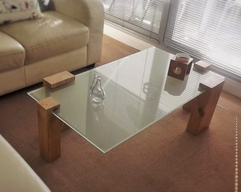 Contemporary coffee table with lighting system