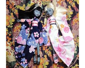 handmade Monster high twin Sakula kimono