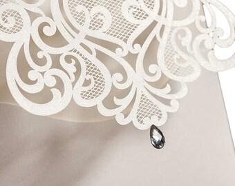 Handmade Gatsby Style Wedding Invitations