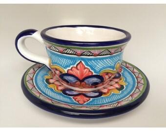 Talavera Cup & Plate Set