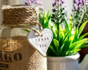 Thank you Clay Hearts - Handmade