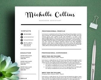 michelle modern resume template cv template cover letter professional and creative resume teacher - Creative Teacher Resume Templates