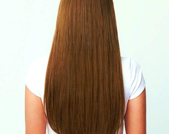 """Halo Hair Extensiones 100% Human Remy natural hair 22"""" Brown"""