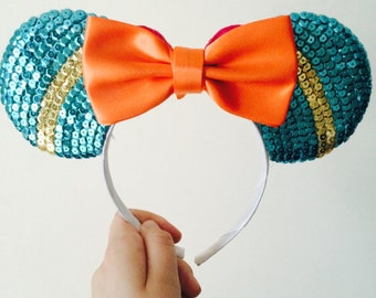 Merida from Brave inspired Minnie Mouse ears