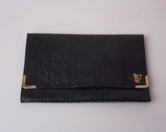 Vintage Louis Feraud snakeskin clutch bag