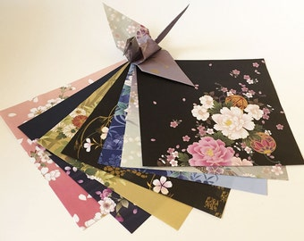 Origami Paper Sheets - Japanese Folk Art Chiyogami - 14 Sheets