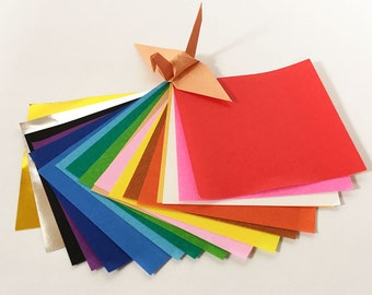 """Origami Paper Sheets - Colored Paper Assortment - 500 3"""" Sheets"""